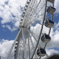 The Ferris wheel at South Bank in Brisbane, Australia.