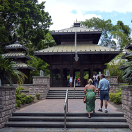 The Nepal Peace Pagoda in the South Bank Parklands in Brisbane.