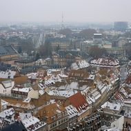 The city of Strasbourg from the Cathedrale Notre-Dame de Strasbourg.