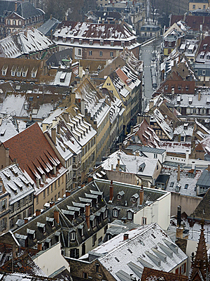 Thumbnail image ofThe city of Strasbourg from the Cathedrale Notre-Dame...