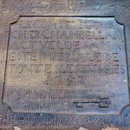 An inscription on the Cathedrale Notre-Dame de Strasbourg.