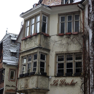 A building with trompe l'oeil, which is frequently seen in Strasbourg.