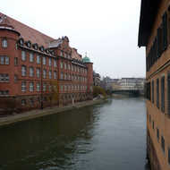 The river in old town Strasbourg.