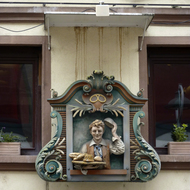 A bakery sign in Strasbourg.