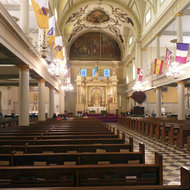 Inside the St. Louis Cathedral on Jackson Square in New Orleans.