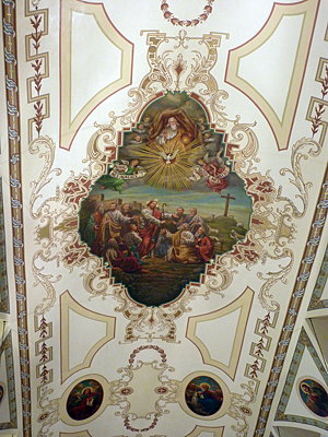 Thumbnail image ofThe ceiling of the St. Louis Cathedral on Jackson...