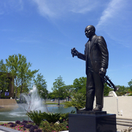 The Louis Armstrong statue in New Orleans.