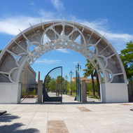 The entrance of Louis Armstrong Park, New Orleans.