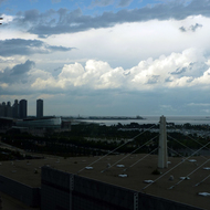 A View of Chicago and Lake Michigan from the Hyatt McCormick Place Hotel.
