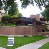 The Frank Lloyd Wright Frederick C. Robie House on the University of Chicago campus.