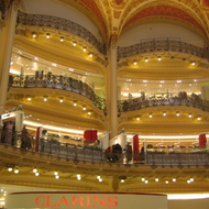 The magnificent Galeries Lafayette in Paris.