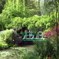 The bridge over the lily pond at Giverny.