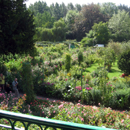 The view of Monet's garden at Giverny from the second story of his house.