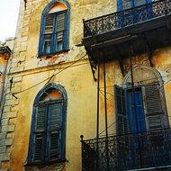 A building in Rethymno, Crete.