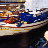 A boat in the Chania harbor.