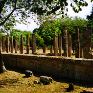 Ruins at Olympia, Greece.