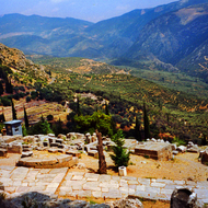 Ruins at Delphi, Greece.