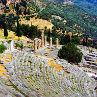 The theatre at Delphi, Greece.