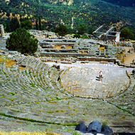 The theatre at Epidaurus, Greece.