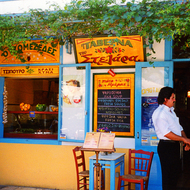A taverna at either Tolo or Nafplio, Greece.