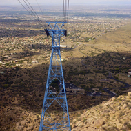 The Sandia Peak Tramway.