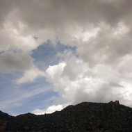 New Mexico clouds at Sandia Peak.