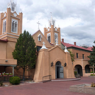 The San Felipe de Neri Church (est. in 1793) at the heart of Old Albuquerque.