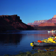 Put-in on the Grand Canyon at Lee's Ferry.