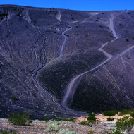 A view from the bottom of Ubehebe Crater in Death Valley.