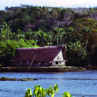 A traditional building on Yap island.