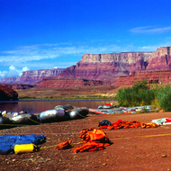 Lee's Ferry, where river trips put in on the Colorado River through the Grand Canyon.