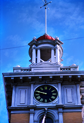 Thumbnail image ofThe clock tower of the Tuolumne County Courthouse...