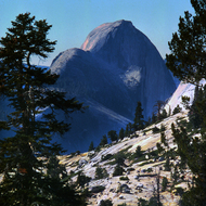 Half Dome from Olmsted Point in Yosemite National Park.