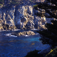 A view of the Northern California Coast near Monterey.