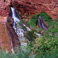 The spring named Vasey's Paradise by John Wesley Powell in the Grand Canyon.