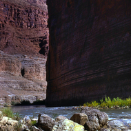 A view of the Colorado River through the Grand Canyon in Marble Gorge.