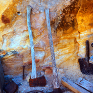Abandoned implements at Bass Camp in the Grand Canyon.
