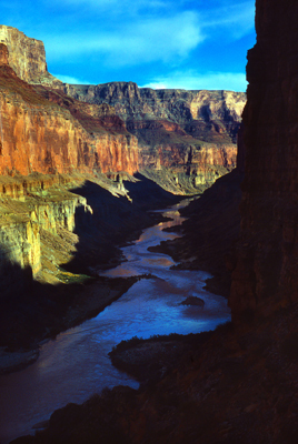 Thumbnail image ofThe view down the Colorado River from the Nankoweap...