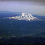 Mt. Rainier from a commercial airplane.