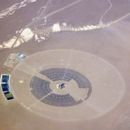 The Crescent Dunes solar power plant near Tonopah, Nevada.