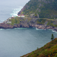 Fort Amherst as seen from Signal Hill, St. John's, Newfoundland.