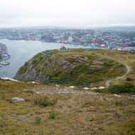 St. John's, Newfoundland as seen from Signal Hill.