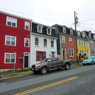 A row of colorful houses that are a trademark of St. John's, Newfoundland. The gun battery overlooking the entrance to the harbor of St. John's, Newfoundland.