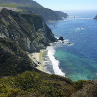 A view of the rugged California coastline south of Monterey.
