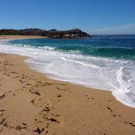 A beautiful beach south of Monterey, California.