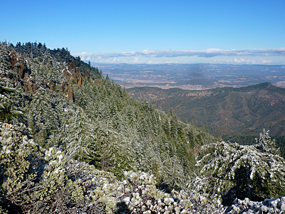 Thumbnail image of Crags near the top of Mount St. Helena, looking...