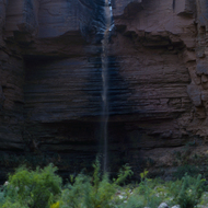 A mini flash flood during in the Grand Canyon.