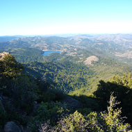 A view north from the top of Mt. Tamalpais.