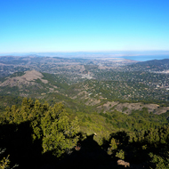 A view east from the top of Mt. Tamalpais.