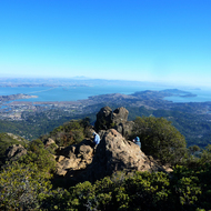 A view southeast from the top of Mt. Tamalpais.